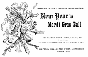 Ad for New Year's Mardi Gras Ball