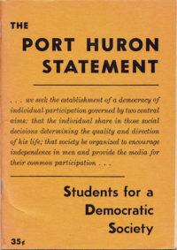 Cover of the Port Huron Statement